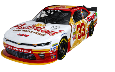 Brandon Jones' 2017 #33 RCR / Anderson's Maple Syrup Chevy Camaro.