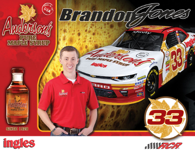 Anderson's Maple Syrup #33 2017 hero card.