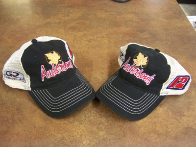 Anderson's Maple Syrup Gross Motorsports hat.