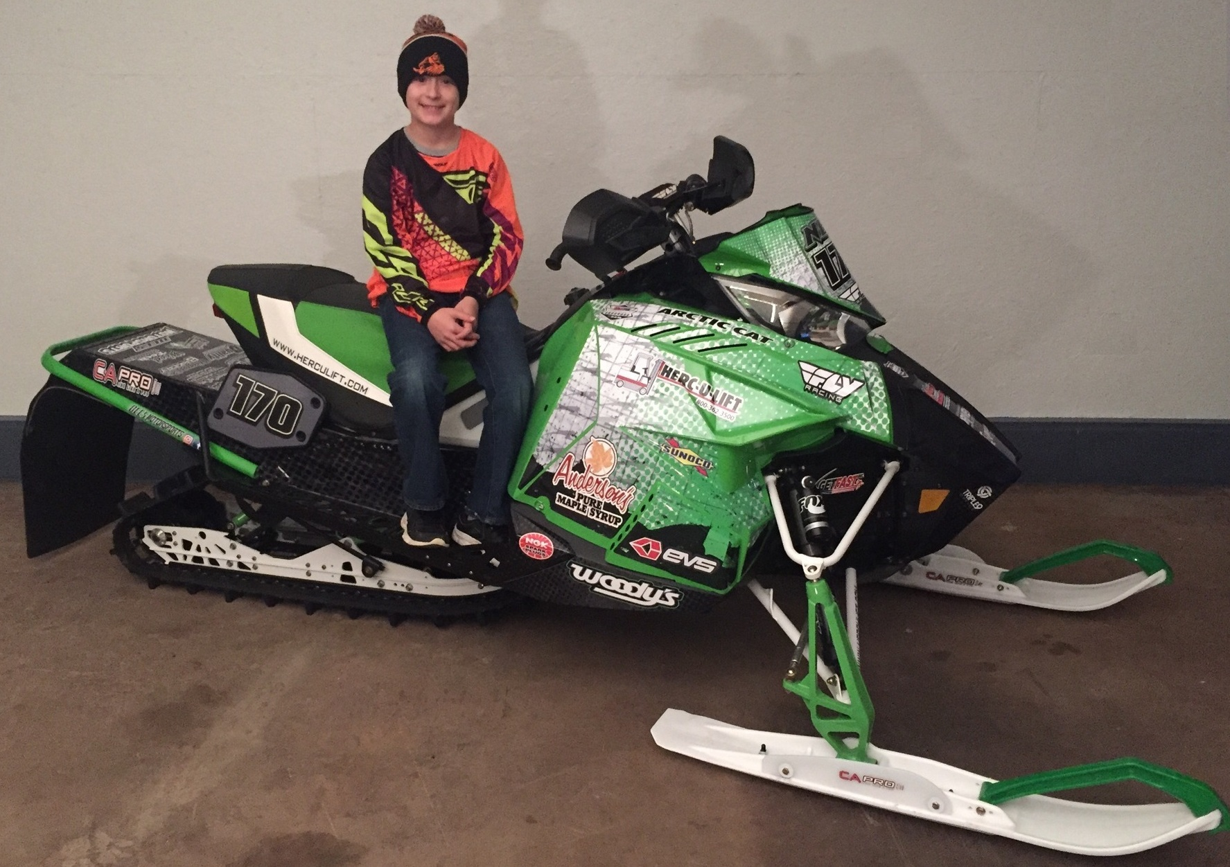 Neil Dees on his 2015 / 2016 Arctic Cat Race Sled.